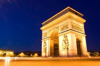Arch of Triumph. Night. Paris, France