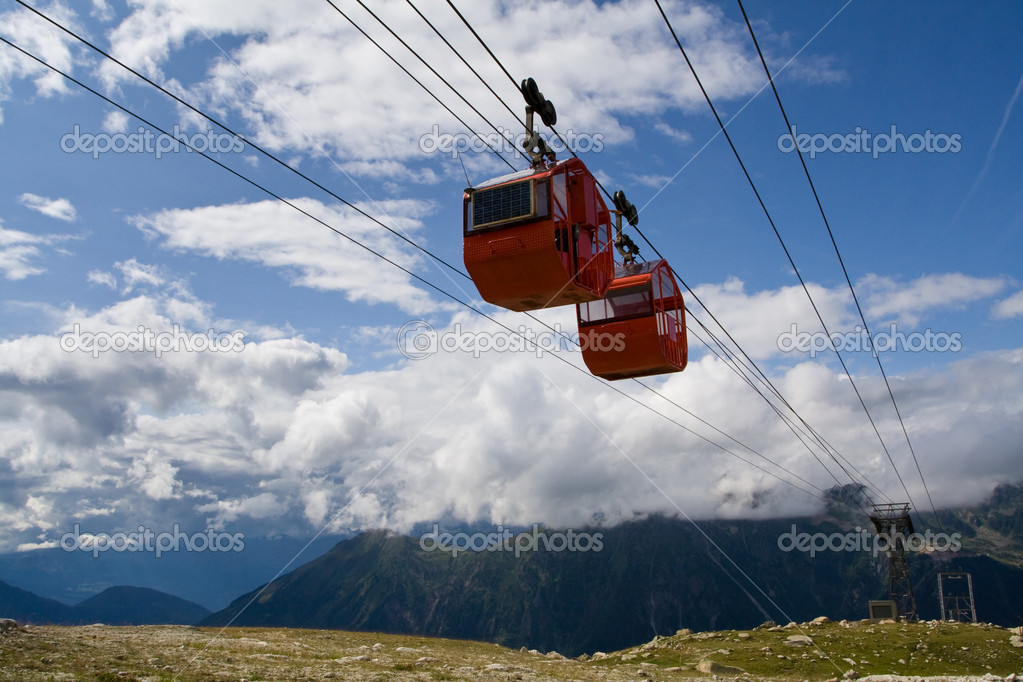 Cable cars in summer
