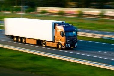 Freight truck on motorway