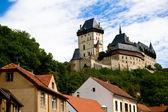 Hrad Karlštejn a staré střechy
