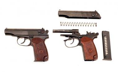 Russian disassembled handgun