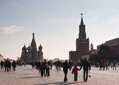 Pohled na Rudém náměstí, Moskva. Rusko
