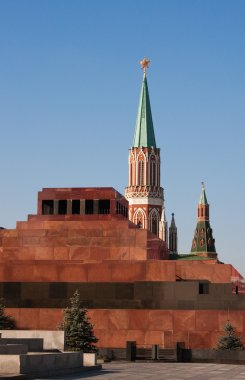 Mausoleum on the Red Square in Moscow