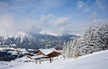 Ski resort Schladming . Austria stock vector