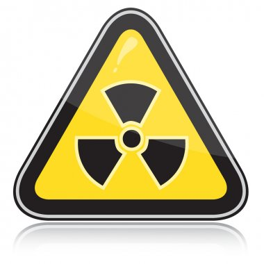 Warning radiation hazard sign