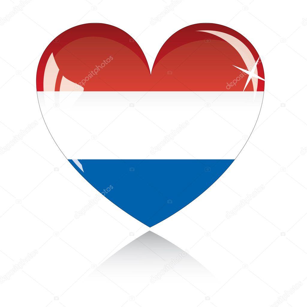 Vector heart with Netherland flag — Stock Vector © SolanD #2006806