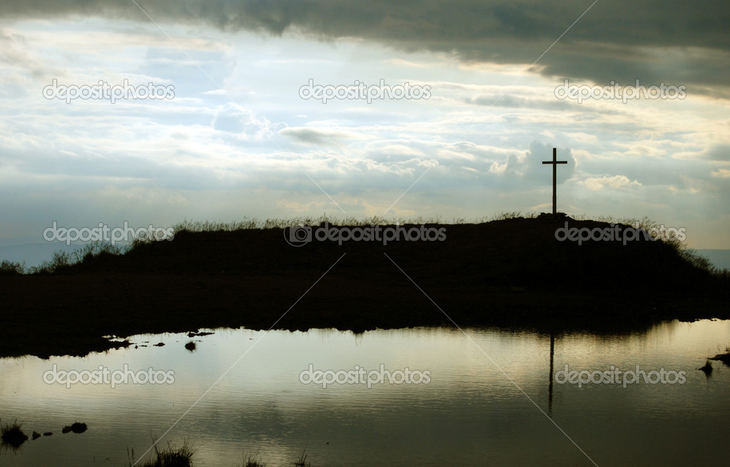 Cross on the top of the hill