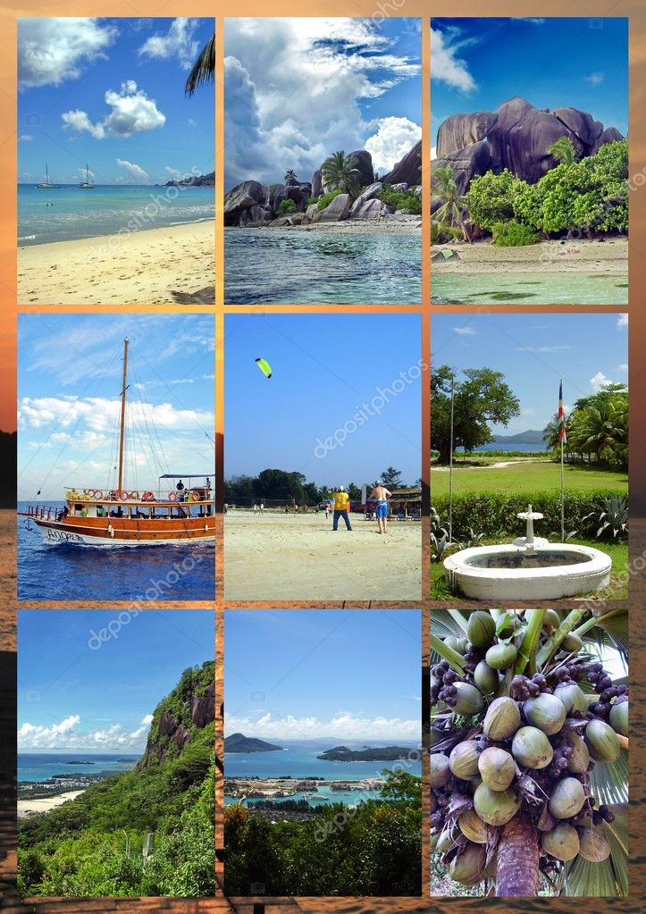 Collage Photos Seychelles