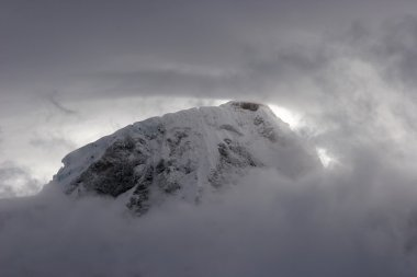 Bad weather in mountains