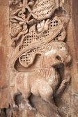 Fotografia in pietra ornata su ishak pasha palace