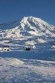 Fotografia immagine invernale del Monte ararat, Turchia