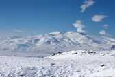 Fotografia montagna inverno nei pressi del Monte ararat, turke
