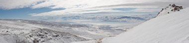 Winter panoramic image from Mount Ararat