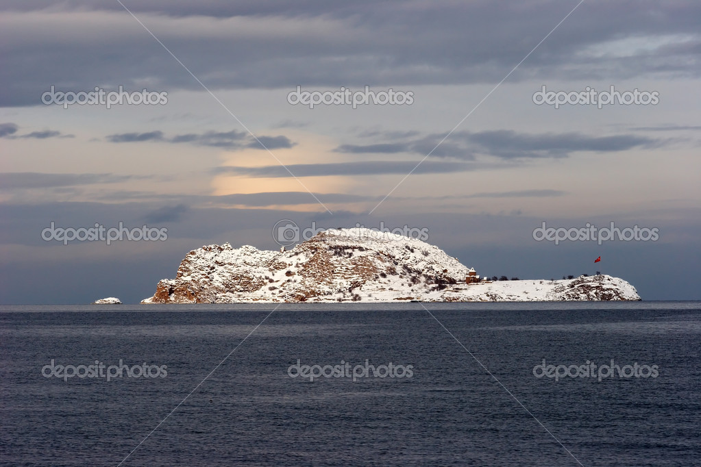 Akdamar Island in Van lake, Turkey