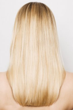 Beauty blonde hairs