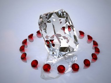 Diamond in a ring of rubies