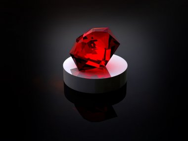 Ruby on a black background