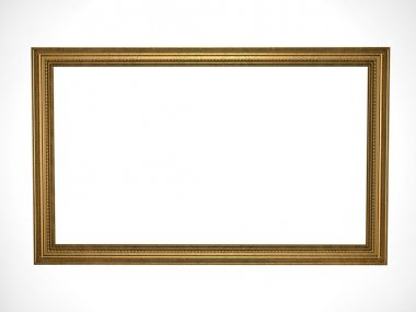 Picture gold frame with a decorative pat