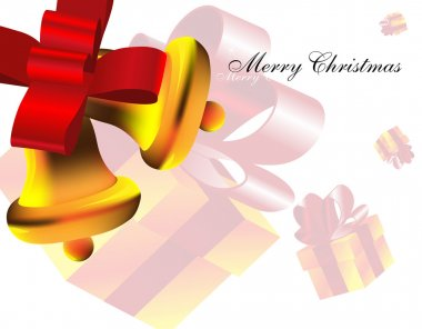 Christmas bells. Party background.