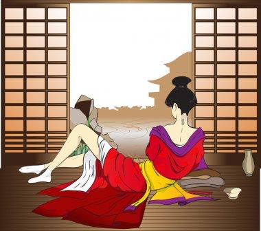 The reflecting geisha
