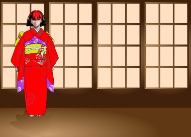 The image of the girl in anime-stylistic