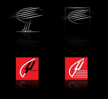 Set of corporate vector logo templates
