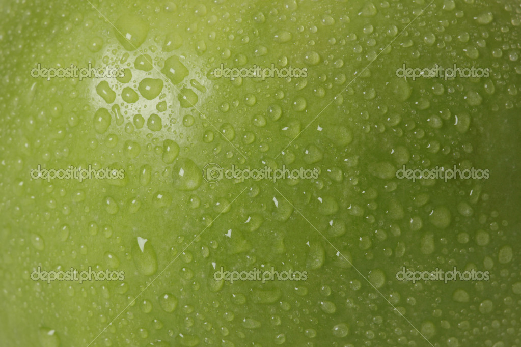 Green apple macro
