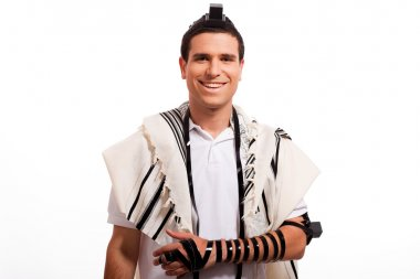 Happy jewish man smilin