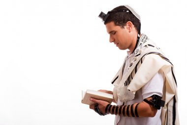 Young jewish man with book