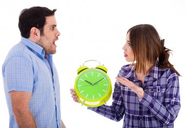 Women angry on her boyfriend