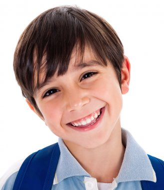 Closeup smile of a cute young boy