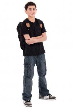 Teenage school boy