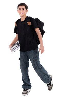 Handsome teenager boy student