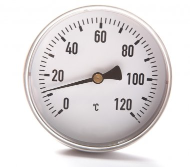 The round thermometer isolated