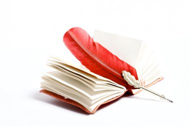 A red writing on a diary