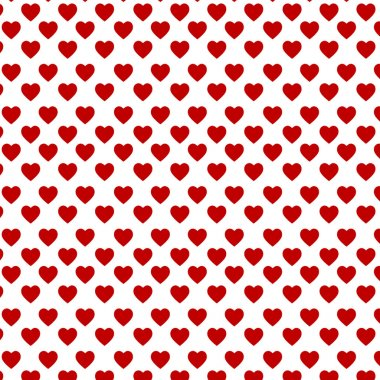Red hearts on the white backgound clip art vector