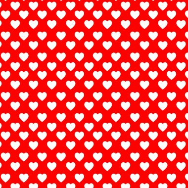 White hearts on the red backgound clip art vector