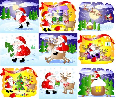 Set of 9 fanny Christmas cards