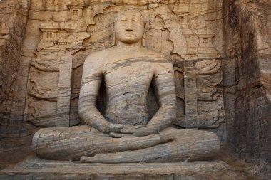Ancient sitting Buddha image