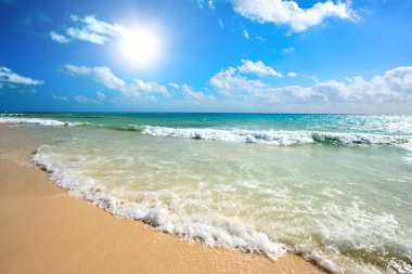 "Картина, постер, плакат, фотообои ""красивый пляж и море"", артикул 1094381"