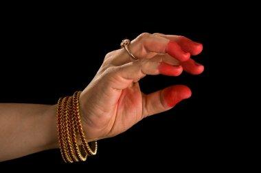 Samdamsha hasta of indian dance Bharata
