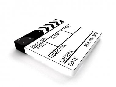 Clapperboard white used for the director
