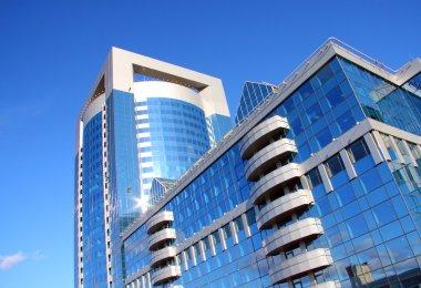 Modern building of business center