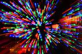 Fotografia esplosione di luci colorate
