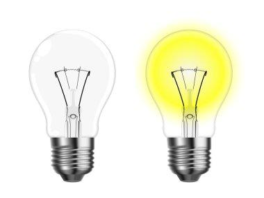 Vector glowing tungsten lightbulb