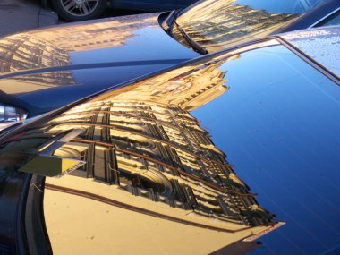 Reflections in the car