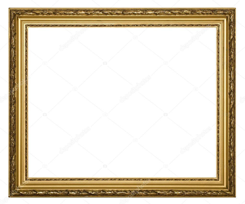Marcos de oro para la pintura y foto — Foto de stock © indric #1242572