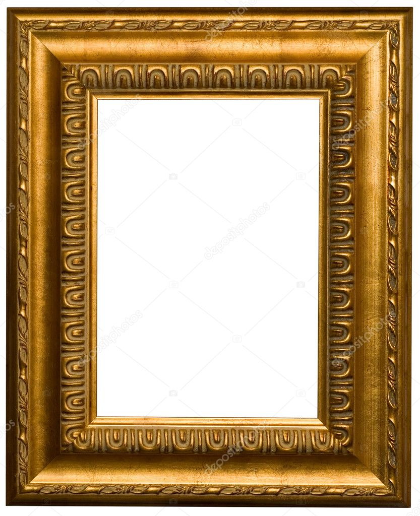 gold frames for painting and foto stock photo 1242592