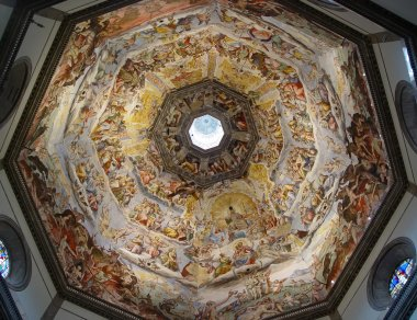 Painting inside the dome of the Duomo. F
