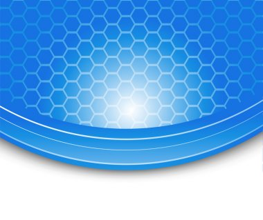 Blue background - cells